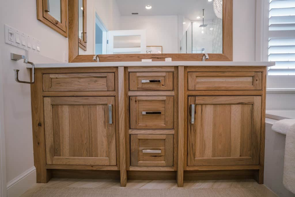 Master Bathroom Vanity In Rustic Hickory
