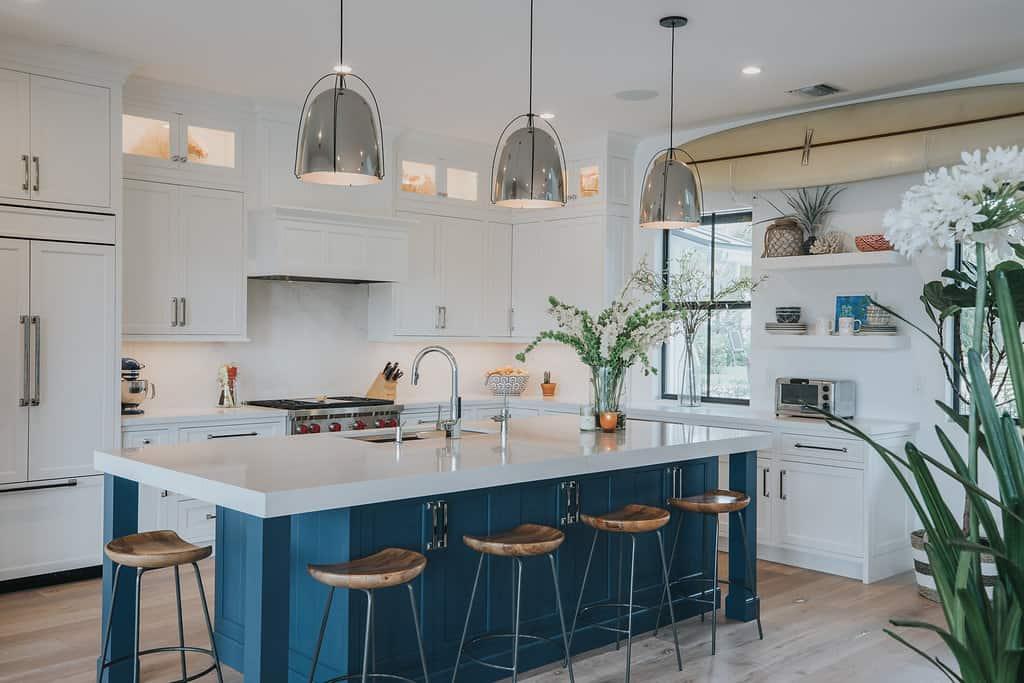 Blue Island White Kitchen